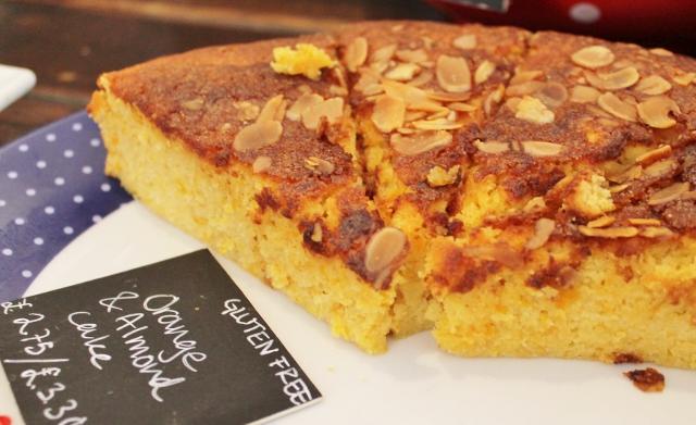 Taylor St Baristas Mayfair orange and almond gluten free cake