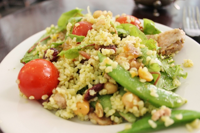 Taylor St Baristas Mayfair chicken and giant couscous salad