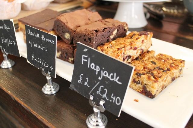 Taylor St Baristas Mayfair flapjacks and chocolate brownies