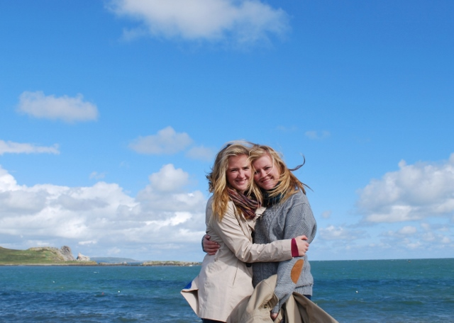 Katy and Ches on Howth Pier