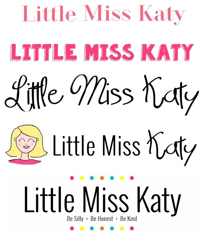 Little Miss Katy banners 2014