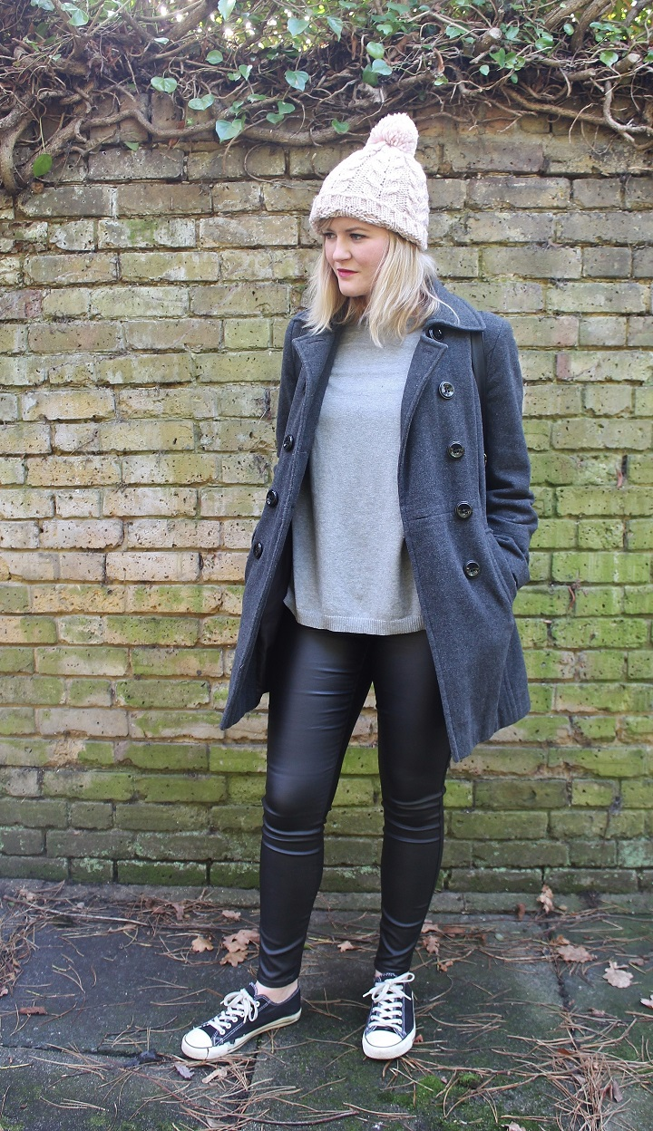 New Look Denim Coated Jeans Leather trousers