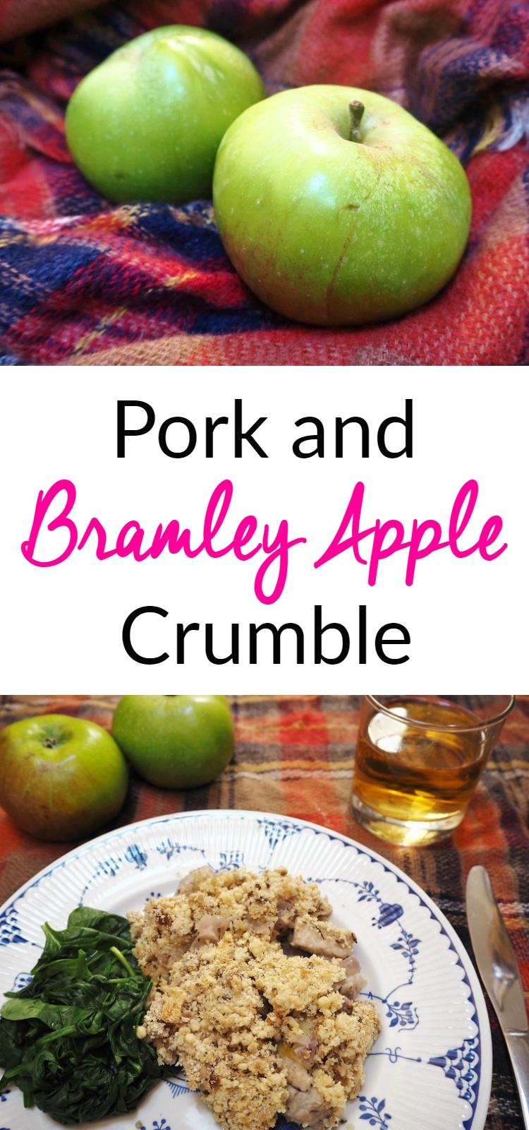 pork and bramley apple crumble