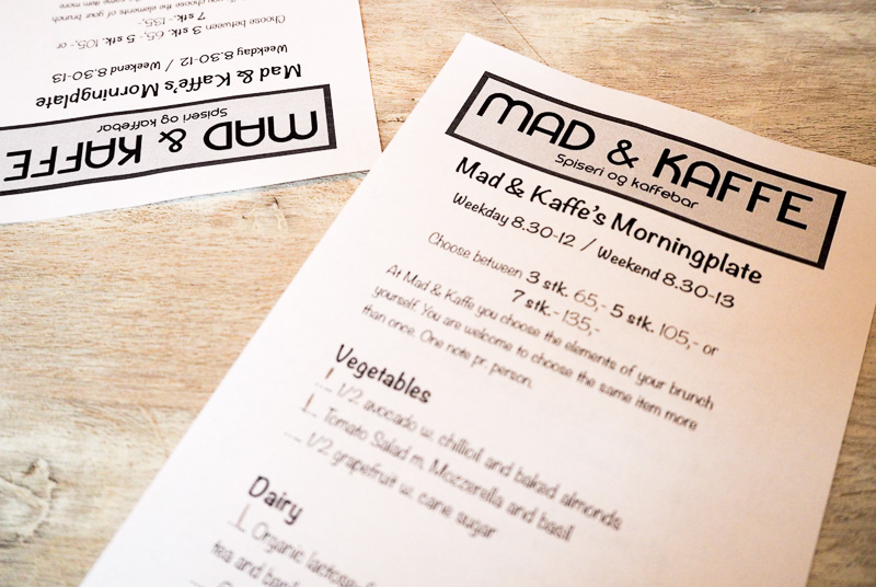 Mad and Kaffe brunch Copenhagen