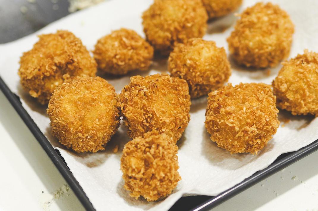 parmesan risotto balls