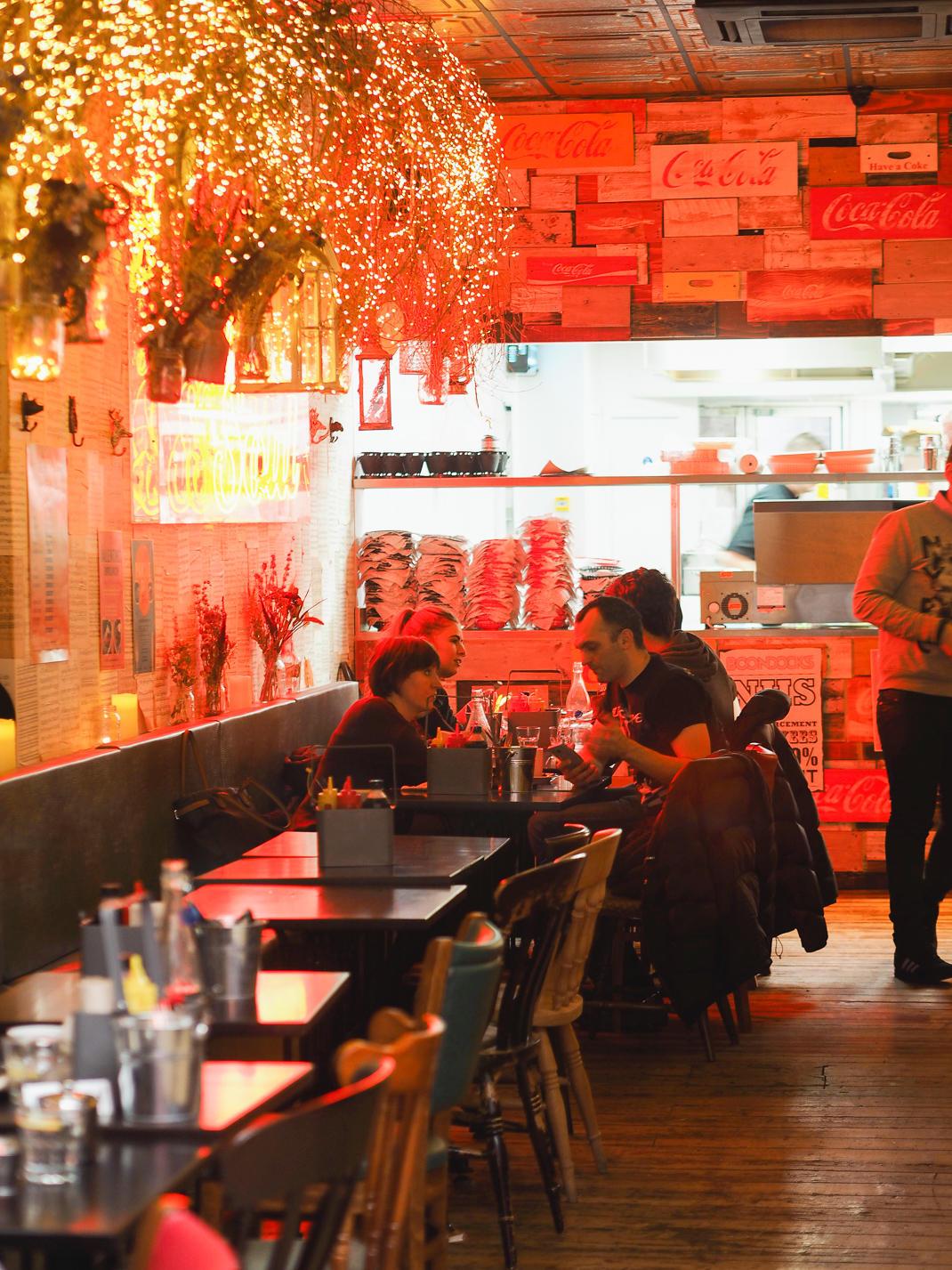 Boondocks restaurant interior