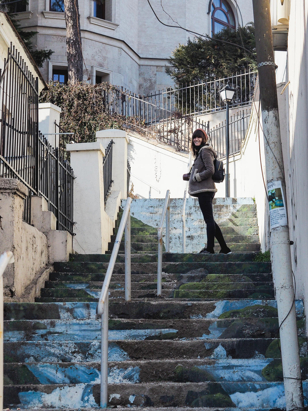 stairs bucharest street art