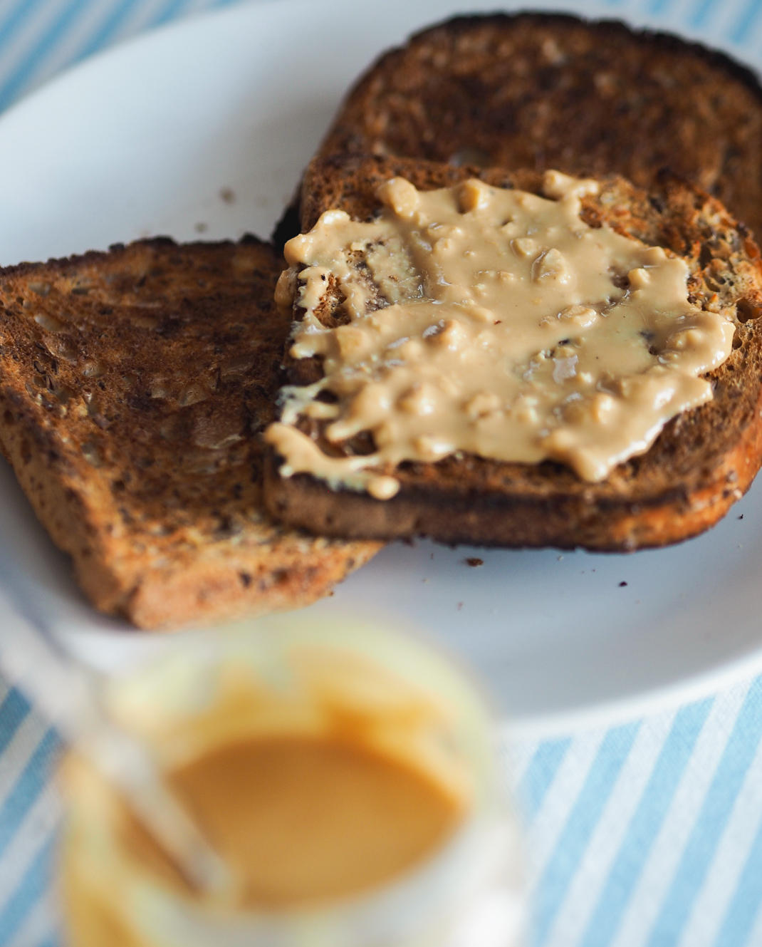 peanut butter on toasy