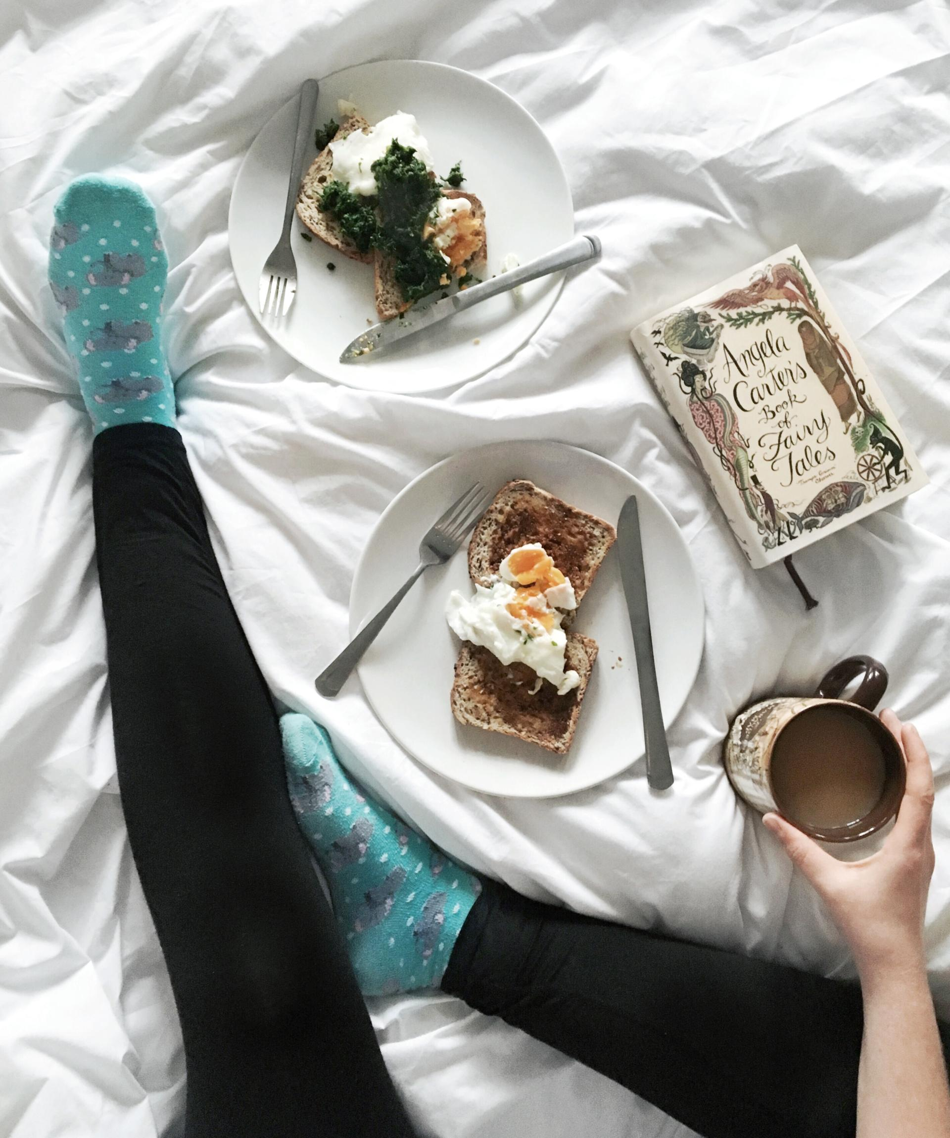 flatlay on the bed