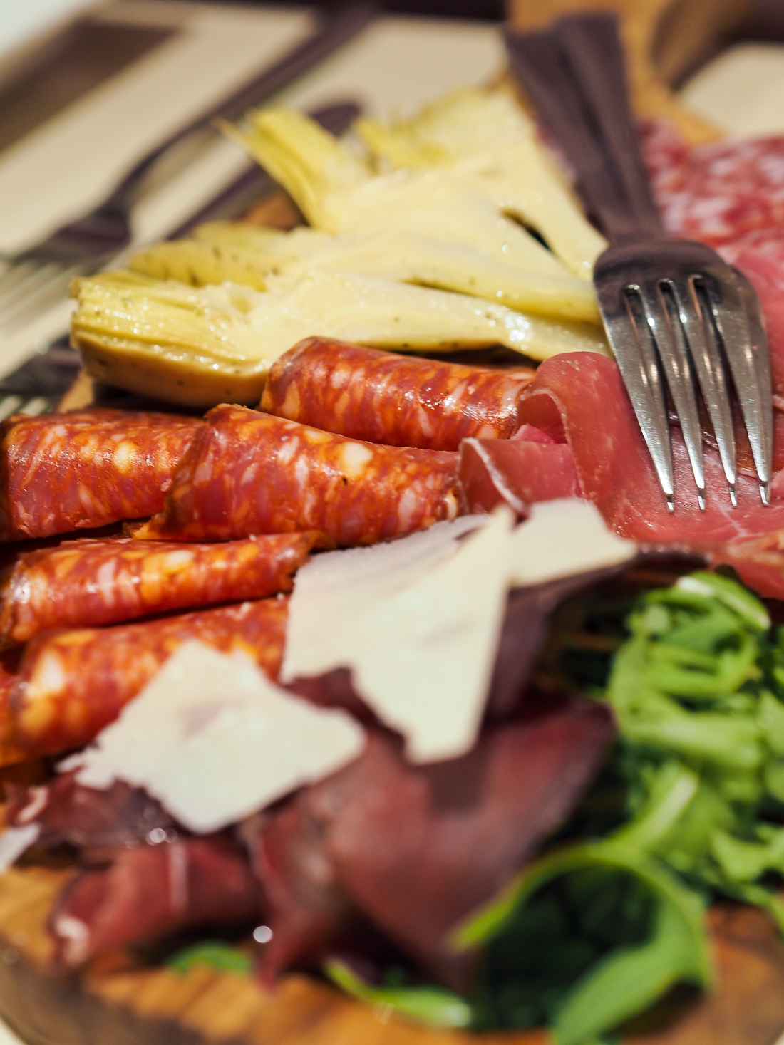 Italian cured meats and cheese