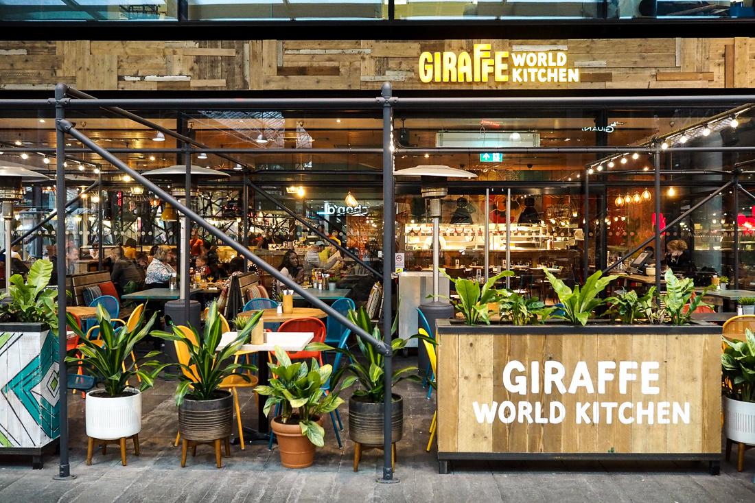 giraffe spitalfields