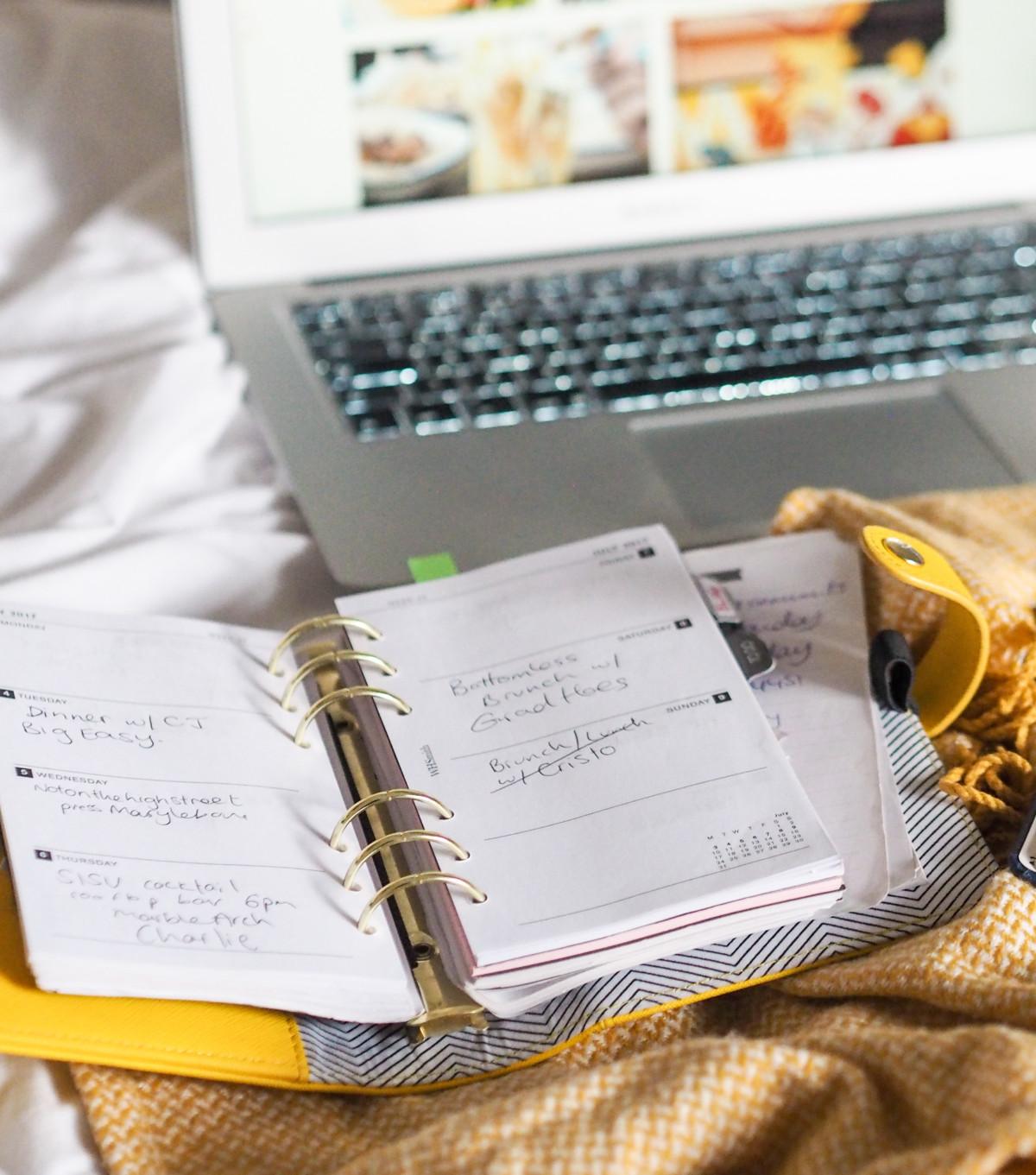 kikki k yellow diary planner