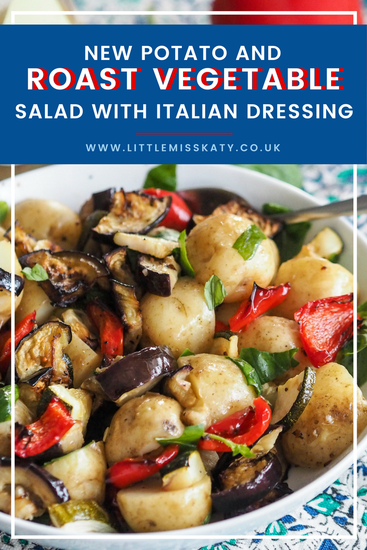 new potato and roast vegetabe salad recipe with italian dressing