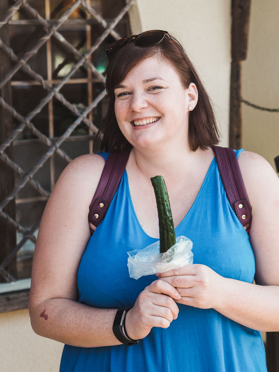 pickle on a stick