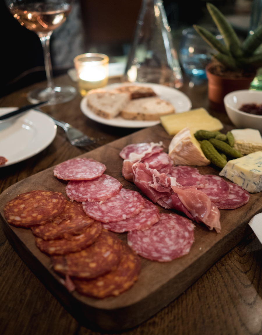 cheese and charcuterie at kitty hawk's abck room wine bar