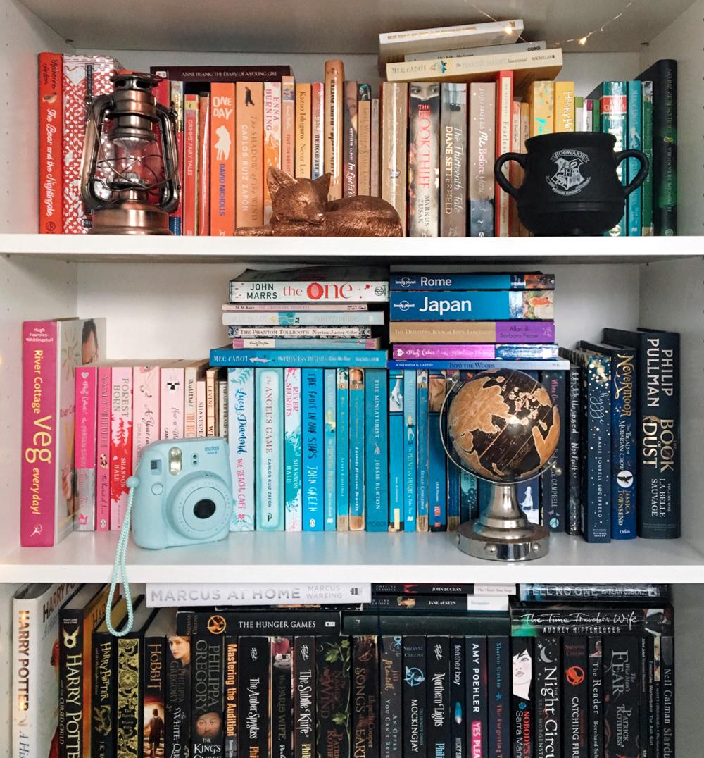 rainbow bookshelf