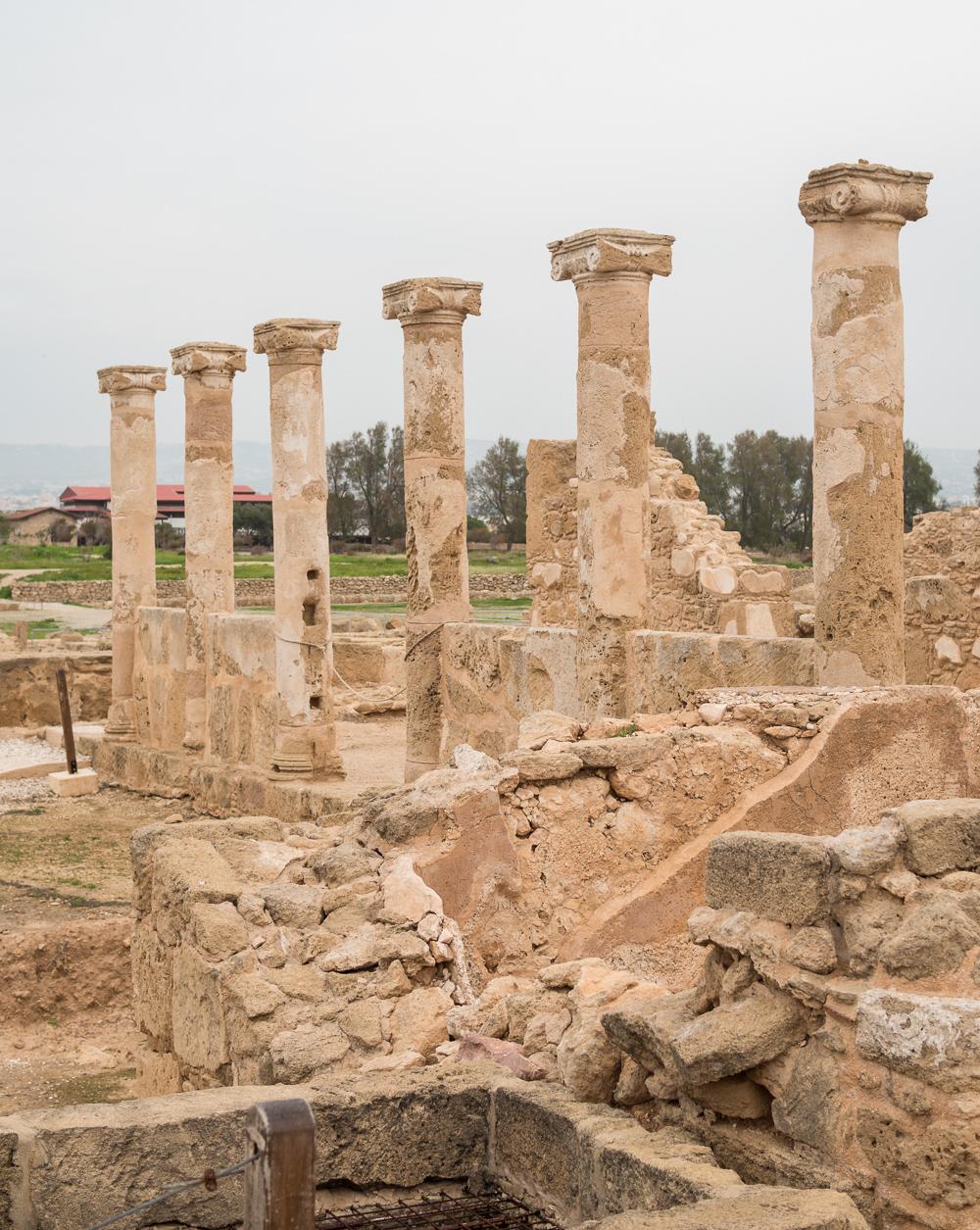 Paphos archeological ruins