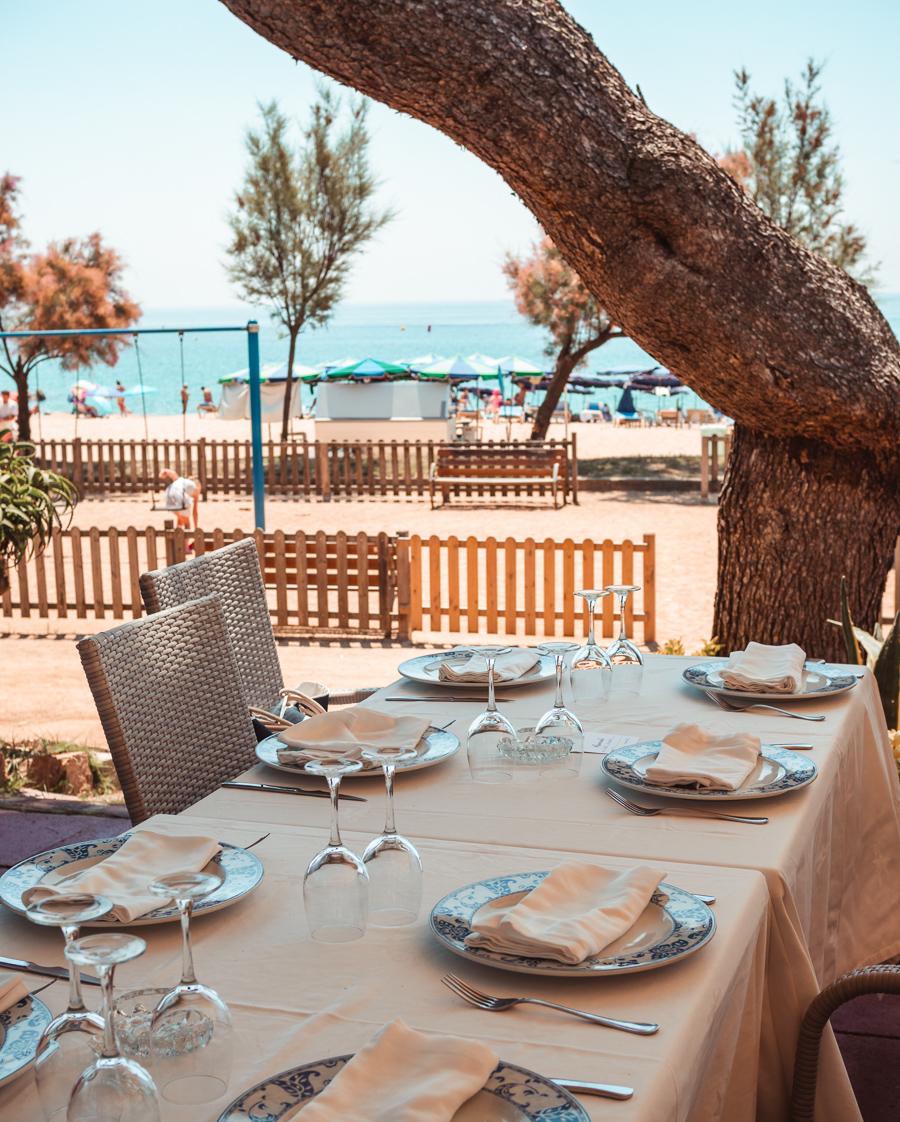 Cala Canyelles Restaurant in Lloret de Mar