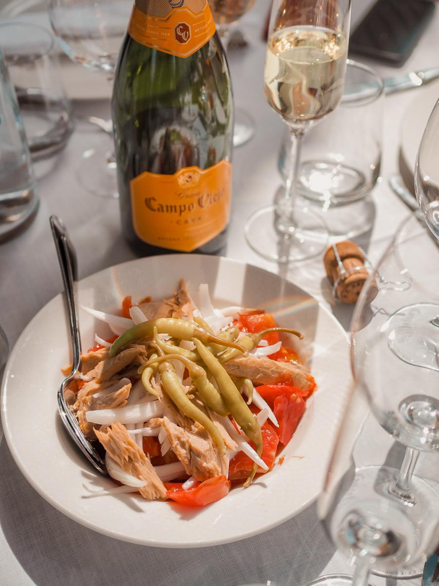 spanish tomato salad with campo viejo cava