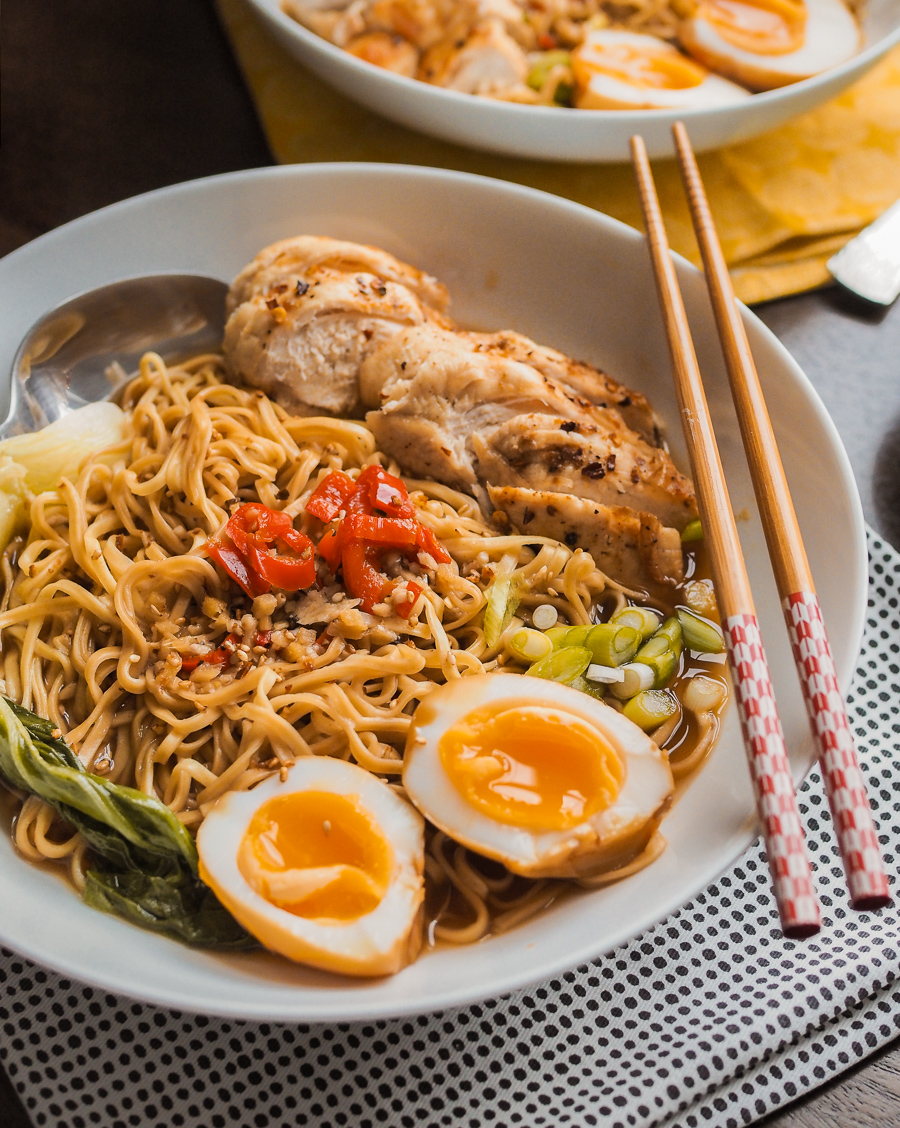 easy chilli chicken ramen recipe